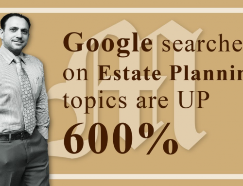 Google Searches on Estate Planning are up